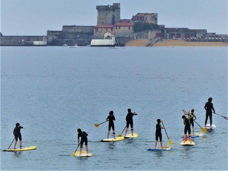 Stand up paddle à Saint Jean de Luz avec Evolution 2 Pays Basque