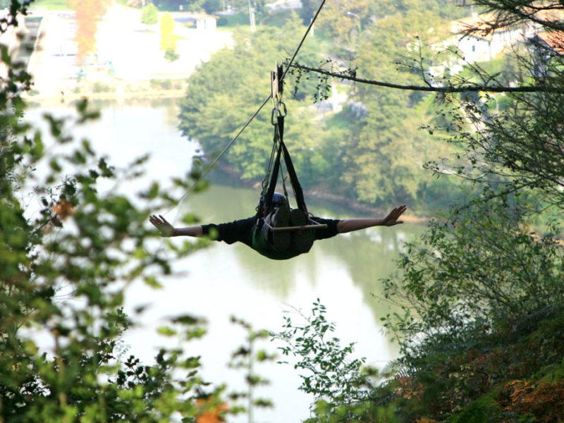 Tyrolienne Park Lac de St Pée sur Nivelle avec Evolution 2 Pays Basque
