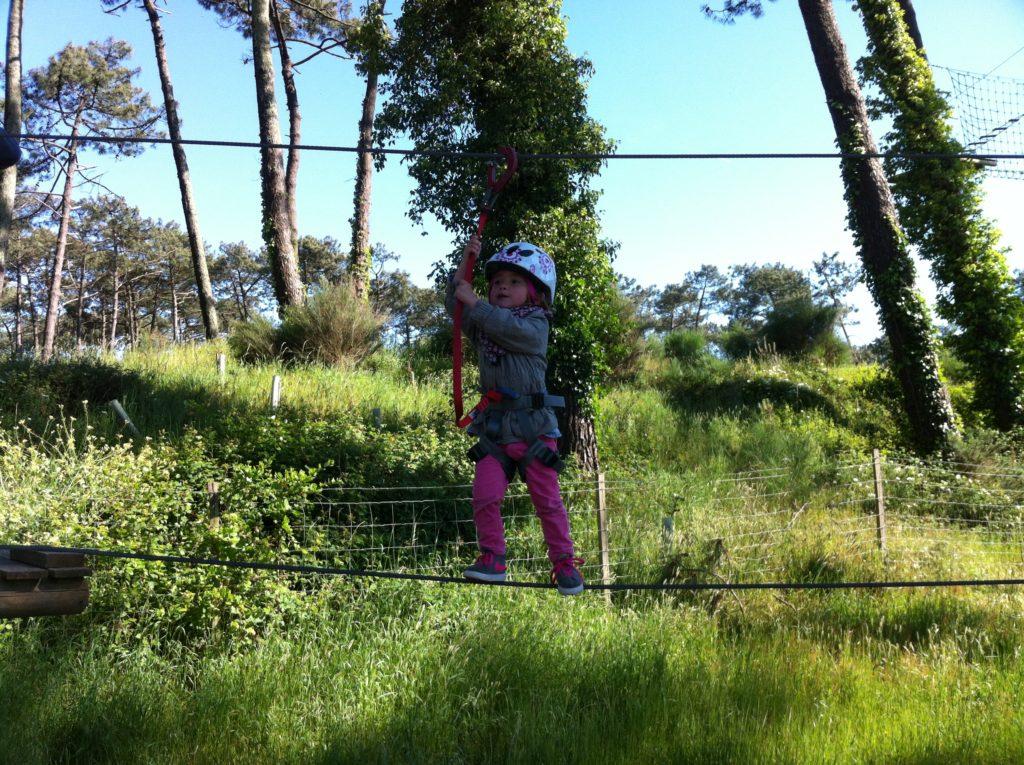 Parcours accrobranche enfants Anglet avec Evolution 2 Pays Basque