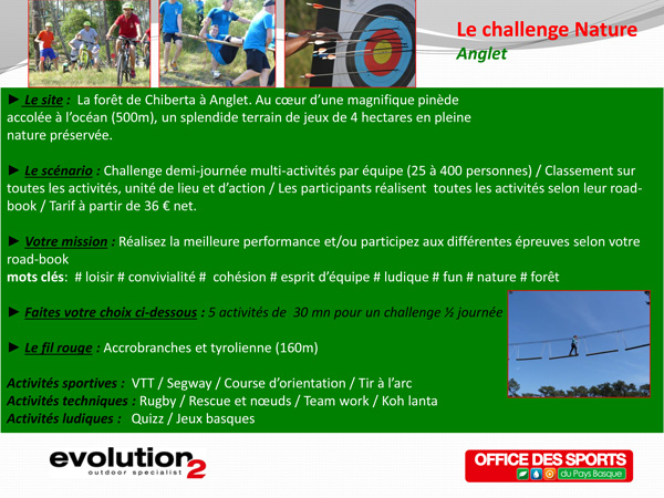 Challenge Nature Anglet Pays Basque
