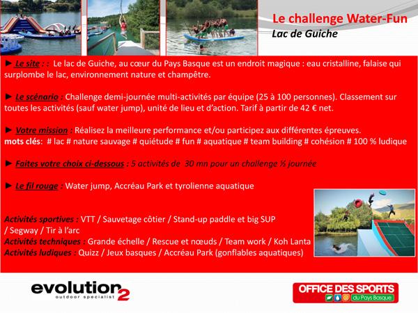 Challenge Water Fun Lac de Guiche